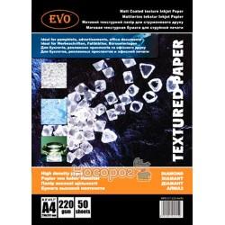 Фотобумага матовая двусторонняя EVO MPD-DT-220-A4/50 текстура диамант
