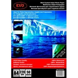 Фотобумага матовая двусторонняя EVO MPD-220-A4/50
