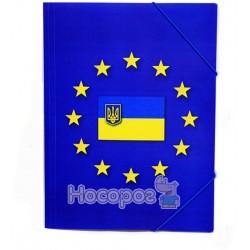 Папка на резинку с принтом ЄВРО Eco-Eagle 3005P-EUR