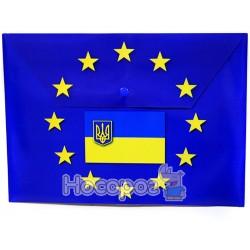 Папка-конверт на кнопку з надруком ЄВРО Eco-Eagle 4015P-EUR