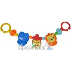 """Погремушка-цепочка на колыбель Simba """"Веселые животные"""""""