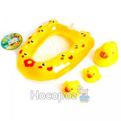 Набор для купания 1221 (3 утки, надувной круг) (150)