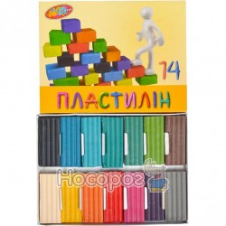 """Пластилин """"Колорит тон"""" 14 цветов (П-14)"""