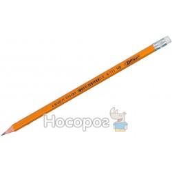Олівці прості 4Office 4-111 з гумкою НВ 01131