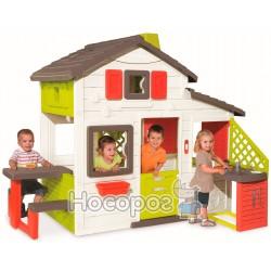 Дом для друзей Smoby с чердаком и летней кухней