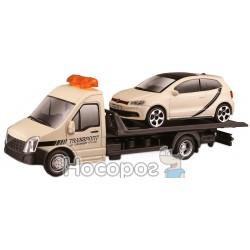 Игровой набор Bburago - Автоперевозчик автомоделей VW Polo GTI Mark 5 18-31403