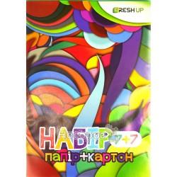 Набор цветной бумаги и картона Frash up Артикус fr-0007-7
