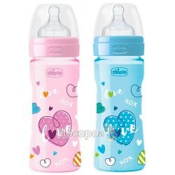 Бутылка пластиковая Chicco Well-Being соска силиконовая от 2 месяцев средний поток