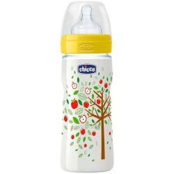 Пляшка пластикова Chicco Well-Being соска силіконова від 4 місяців швидкий потік