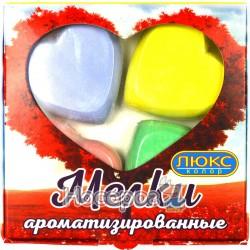 """Мел цветной ароматизированный Люкс колор """"Сердечко"""" 4 цв. М3-4"""