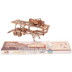 """Механічна сувенірно-колекційна модель Wood Trick """"Причiп Автовоз"""""""