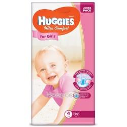 Подгузник для детей Huggies Ulrta Comfort 4 (8-14кг) 50 шт для девочек