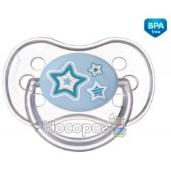 Пустышка силиконовая круглая Canpol 0-6 м-цев Newborn baby 22/562