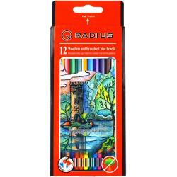 Карандаши пластмассовые Radius 12 цветов CP-109