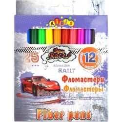 Фломастери Kidis Crazy race 12 кольорів 7797