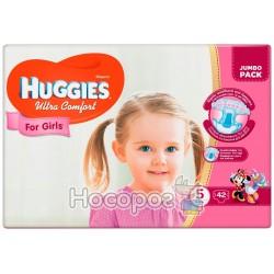 Подгузник для детей Huggies Ulrta Comfort 5 (12-22кг) 42 шт для девочек 48404