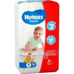 Подгузник для детей Huggies Classik Medium 4 (7-18кг) 14шт 9401045