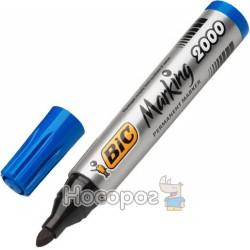 Маркер BIC Перманентний 2000 синій 8209143