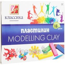 """Пластилін Луч """"Класика"""" 16 кольорів"""