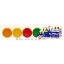 Краски Акварель Луч Классика 6 цв пластик 110210