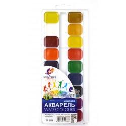 Краски Акварель Луч Классика 18 цв пластик