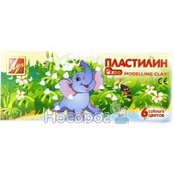 Пластилин Мини ZOO 6 цв.