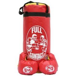 """Боксерський набiр Strateg """"Full contact"""" середній (висота 46см, діаметр 18см)"""