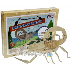 Конструктор деревянный STRATEG Скорпион 34 эл. 361