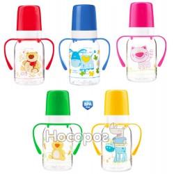Бутылка Canpol babies Цветная ферма с рисунком и ручкой 11/823