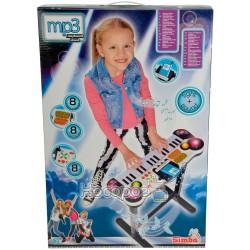 """Музичний інструмент Simba """"Клавішні-парта"""" з роз'ємом для МР3-плеєра, 31 клавіша, 67 см, 6+"""