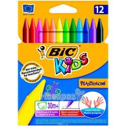 Крейда кольорова BIC 12 кол пластідекор 920299