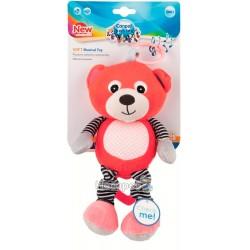 Іграшка плюшева Canpol babies музична BEARS 0+ корал