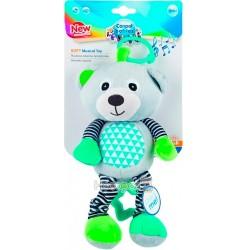Іграшка плюшева Canpol babies музична BEARS 0+ сіра