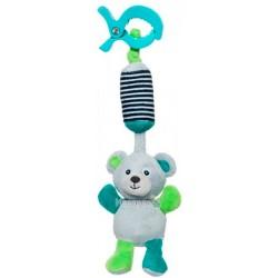 Игрушка плюшевая Canpol babies с колокольчиком BEARS 0+ серая