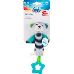 Игрушка плюшевая Canpol babies с пищалки и зубогрызки BEARS 0+ серая
