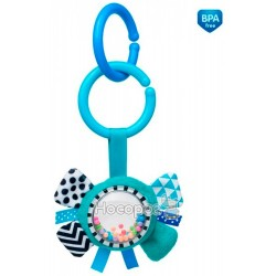 Игрушка плюшевая Canpol babies с погремушкой 0+ Zig Zag синяя лента
