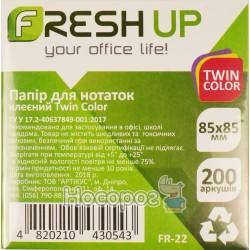 Блок бумаги для заметок клееный Fresh Up FR-22 Twin Color 100713