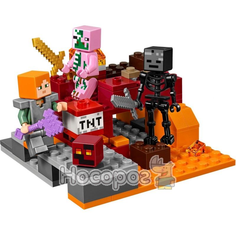 b2e480105 Конструктор LEGO Minecraft Битва у Нижньому світі 21139 купити в ...