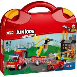 Конструктор LEGO Juniors Набор «Пожарный патруль» в чемоданчике 10740