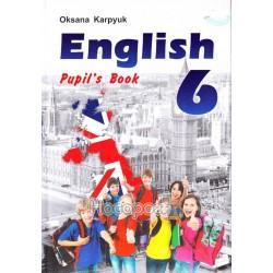 """Англійська мова 6 клас Карп'юк """"Лібра Терра"""" (англ.)"""