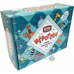 Настольная игра Банда Умников Игротека 5+ (Этажики + Зверобуквы + Турбосчёт + Трафик Джем + подарочная коробка) УМ08