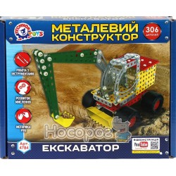 "Конструктор металлический ТехноК ""Экскаватор"" 4784"