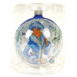 Іграшка новорічна КУЛЯ 3Д голуба СН-7