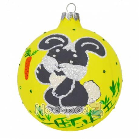 Іграшка новорічна КУЛЯ ФОНОВА Ф-3