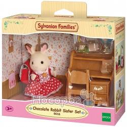 """Игровой набор Sylvanian Families """"Шоколадный Кролик-сестра за партой"""" 5016"""