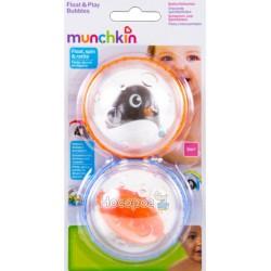 Игрушка для ванны Munchkin «Плавающие пузырьки» пингвин с оранжевым шариком