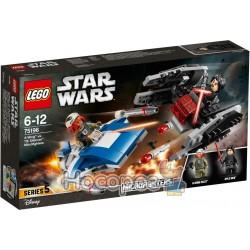 онструктор LEGO Star Wars Истребитель типа A против бесшумного истребителя СИД 75196