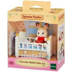 """Игровой набор Sylvanian Families """"Шоколадный крольчонок в кроватке"""" 5017"""