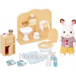 """Игровой набор Sylvanian Families """"Шоколадный Кролик-брат в туалете"""" 5015"""