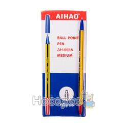 Ручка шариковая AIHAO 668А двусторонняя